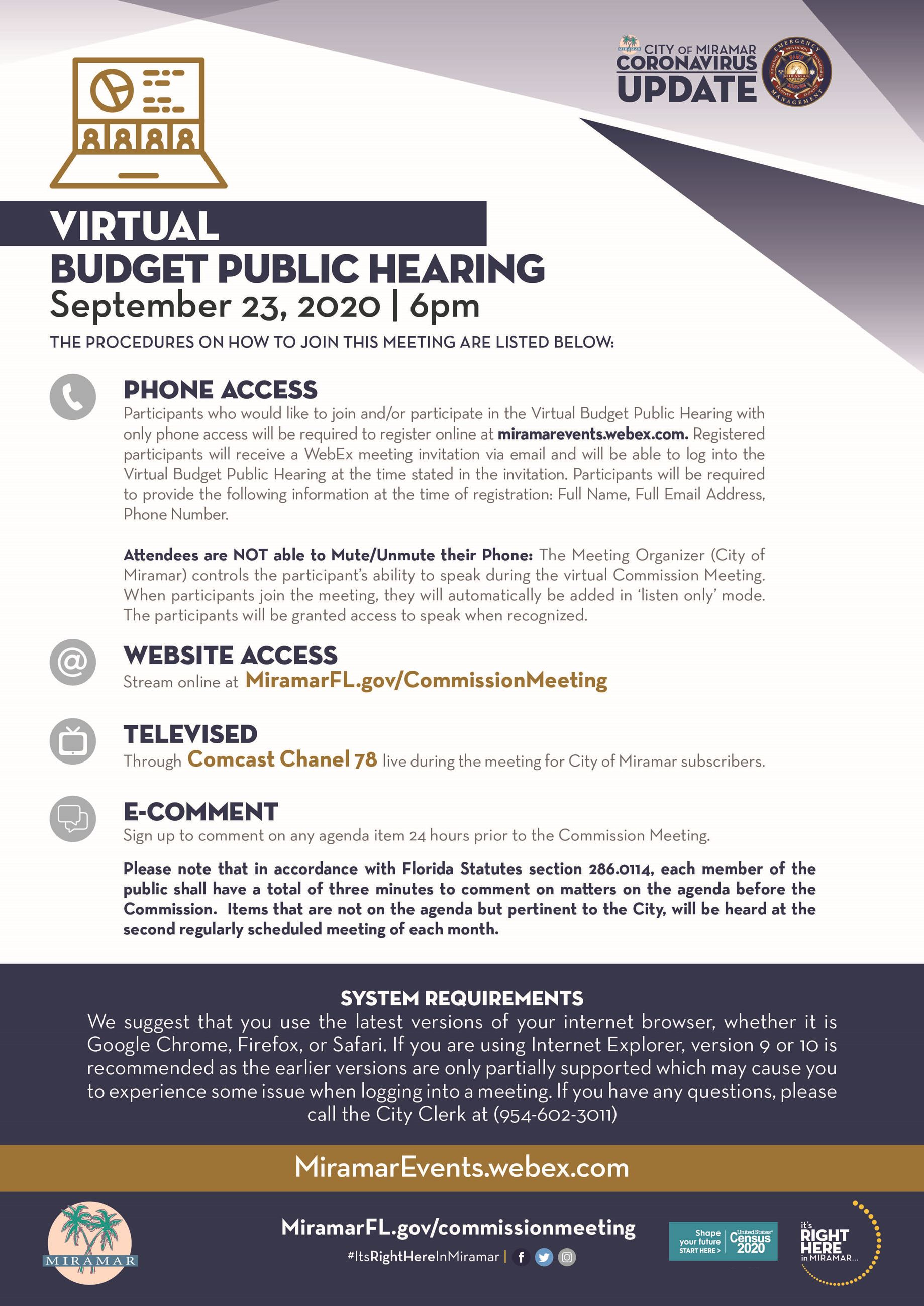 Virtual Budget Public Hearing 09232020 Flyer