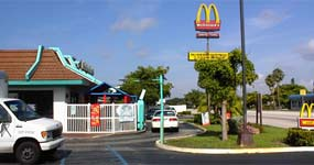 McDonald's Play Area from Parking Lot